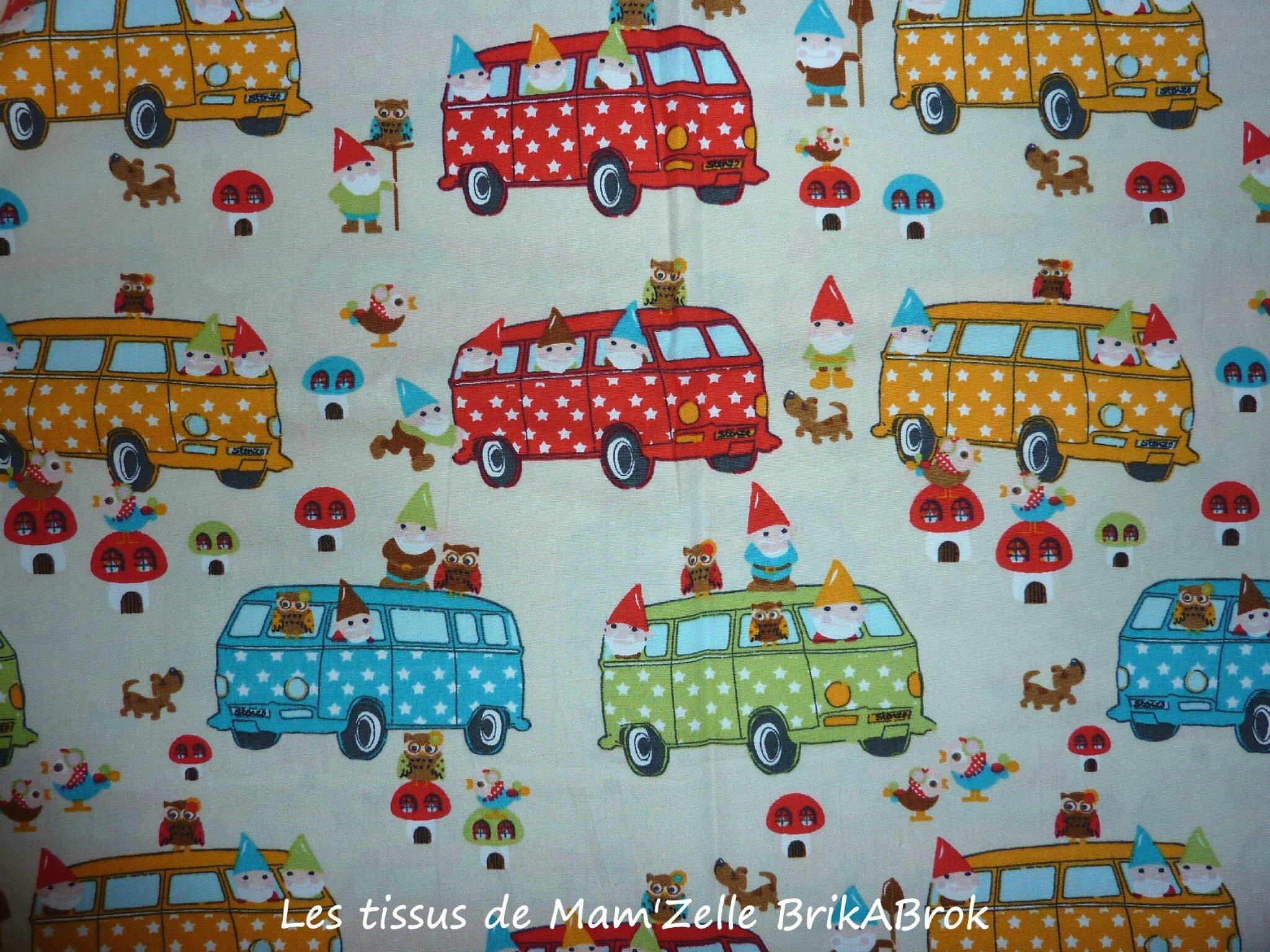 363 - Les nains en minibus Fond écru