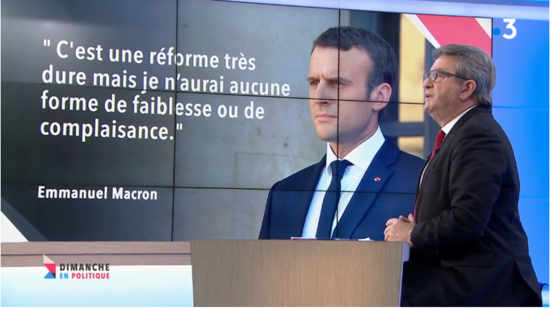 MACRON MELENCHON DIMPOL MEDIA DIXIT WORLD