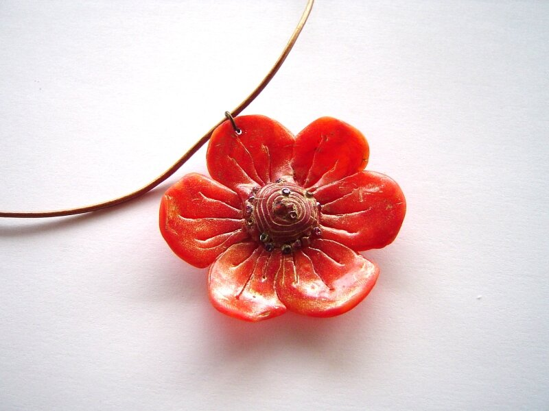 collier orange 1