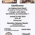 Conférence par monsieur jacques moulin architecte en chef des monuments historiques le samedi 31 mai 2014 à 10h30