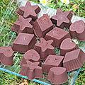Chocolats fourrés à la confiture de cassis
