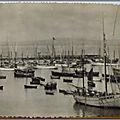 Douarnenez - Flotille de pêche au repos - datée 1949