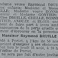 Décès du père de jean druille en 1926