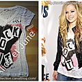 T shirt Rock It by Avril Lavigne-Orange You Happy To Erase MS
