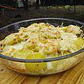 Gratin de pommes de terre au jambon cru et au gorgonzola