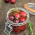 Pickles de cerises #vegan #glutenfree