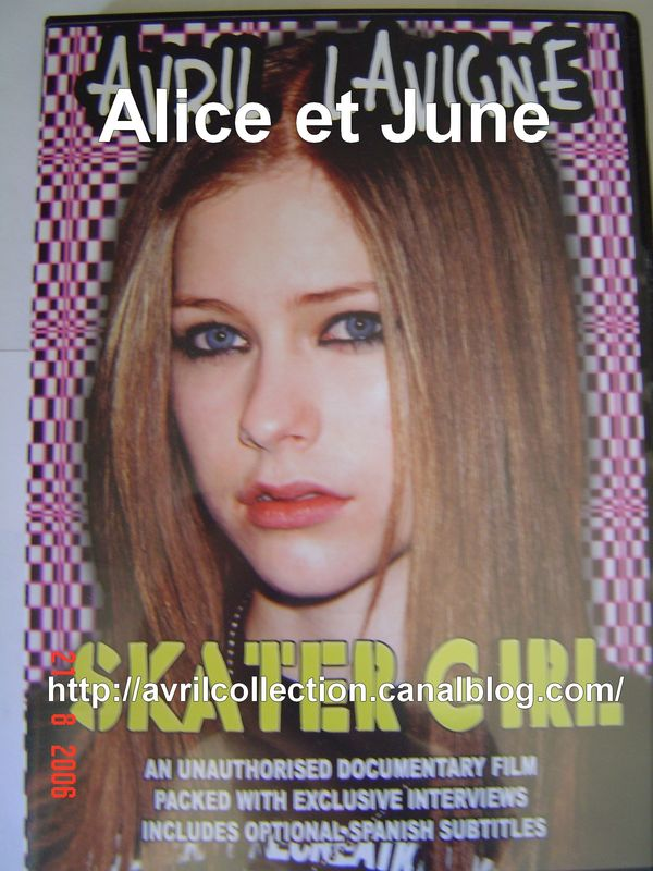 DVD Avril Lavigne Skater girl (2003)