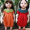 Un exposé fruité + tuto robes (fraise et orange) pour poupee gotz - maru - swergnase (50 cms)