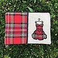 Petite trousse avec robe écossaise