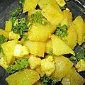 Salade fraîche aux pommes de terre sauce chermoula