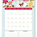 Calendriers mensuels : octobre 2015 ( gratuit - à imprimer)