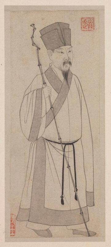 Yuan dynasty 1279–1368, Zhao Mengfu (1254–1322), 'Portrait of Su Shi' 1301