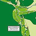 Plan, signalisation de parcours de golf : golf d'avrainville