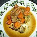 Saute de veau aux carottes et cinq epices