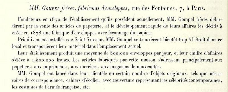 Rapport jury international 1889