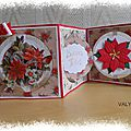 CARTE RONDE POINSETTIA