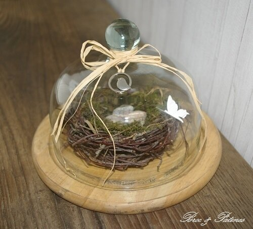 Cloche nid d'oiseau