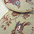 oiseaux brodés sur toile de jouy - Marimerveillle