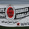 Manifestation pour la libération de georges ibrahim abdallah - lannemezan 25 octobre