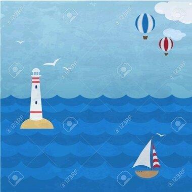 20889339-backround-grunge-marine-avec-le-navire-le-phare-et-ballons