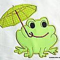 grenouille parapluie