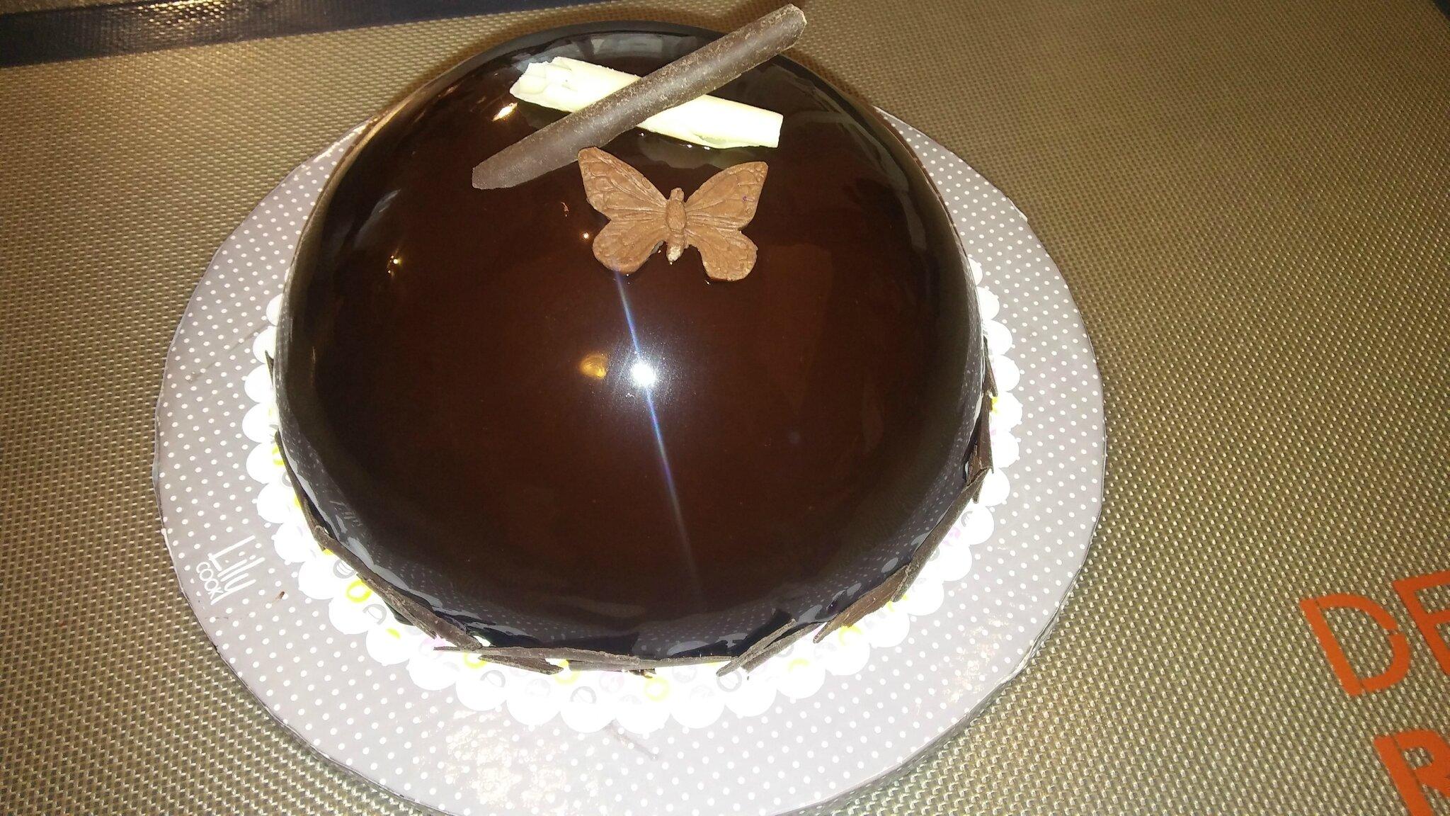 Dôme 3 chocolats Valrhona