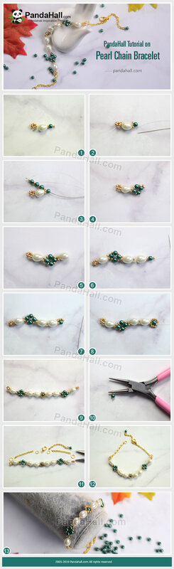 1-PandaHall-Tutorial-on-Pearl-Chain-Bracelet