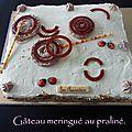 Gâteau meringué au praliné