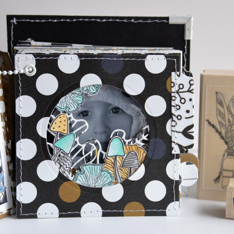 mini carré la vie est tellement belle - collection Esprit Folklore- octobre18- devant page#3-claire- scrapathome- Chou&Flowers