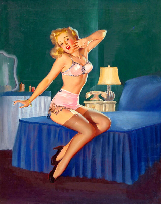 Sleepy Time Gal - Gil Elvgren 1944__ 5