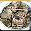 Rôti de dindonneau à la moutarde à l'ancienne et aux lentilles blondes de st flour