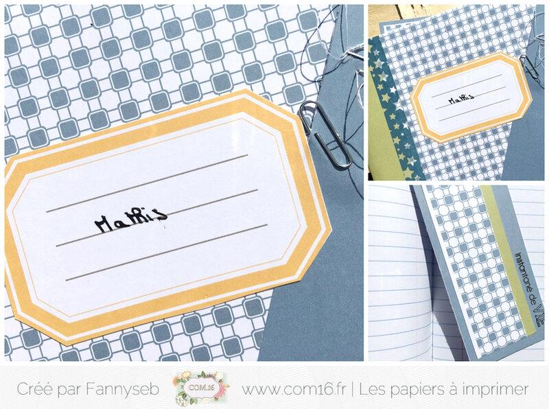 cahier et marque page fannyseb 3 collection gary et nolan papiers COM16