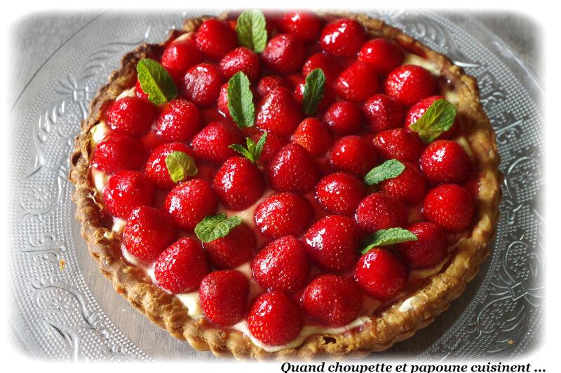 tarte aux fraises crème pâtissière-2825
