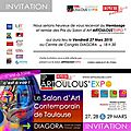 Invitation vernissage à toulouse (invitation varnishing(private viewing) in toulouse