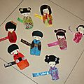 Invitations kokeshi