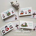 Cartes notes collection atelier du père noel