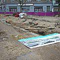 7 janvier 2013 : c'est la rentrée scolaire et la reprise des travaux du chantier du tram....