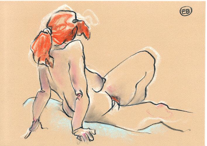 #croquisdenu modele vivant living model Etienne Bonnet Croquis nu dessin peinture Golden Blog Awards nude drawing sketch B MDS00344