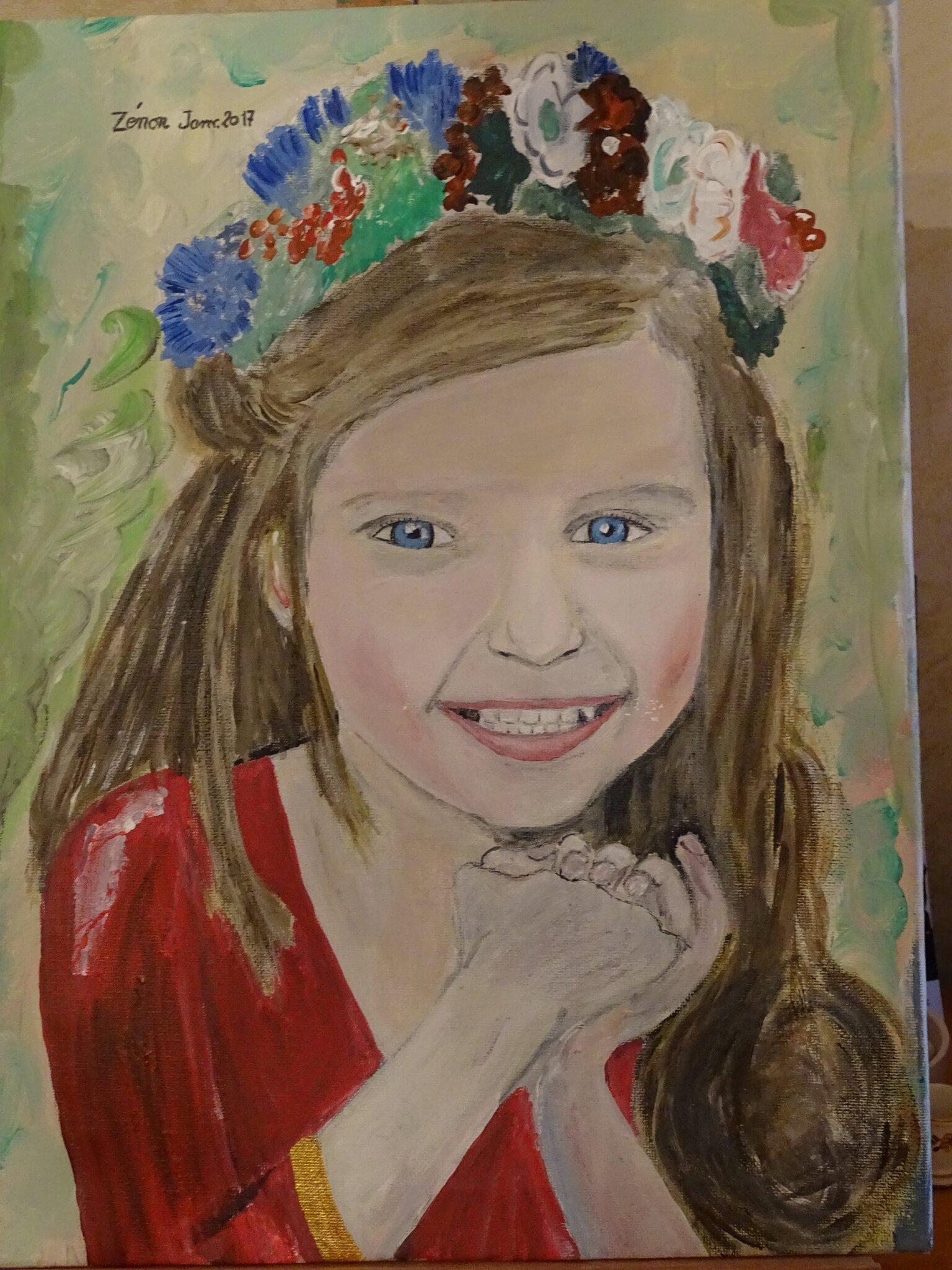 -Portraits d'enfants 40cm X 50cm petite polonaise