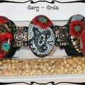 bracelet coquelicot papillon Sandra