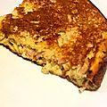 Omelette soufflée au jambon et champignons