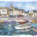 Aquarelle, Port breton