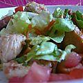 Salade poulet garam massala et ses petits légumes