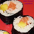 Makis saumon / mangue