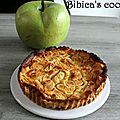 Tarte aux pommes sans pâte à la fève tonka