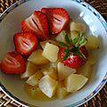 Pommes, fraises, cardamome et .... son thé