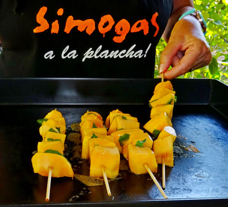 brochettes melon plancha simogas