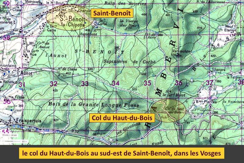 Saint-Benoît et col du Haut-du-Bois, légendé