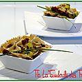 Salade de pâtes aux légumes et tomates séchées