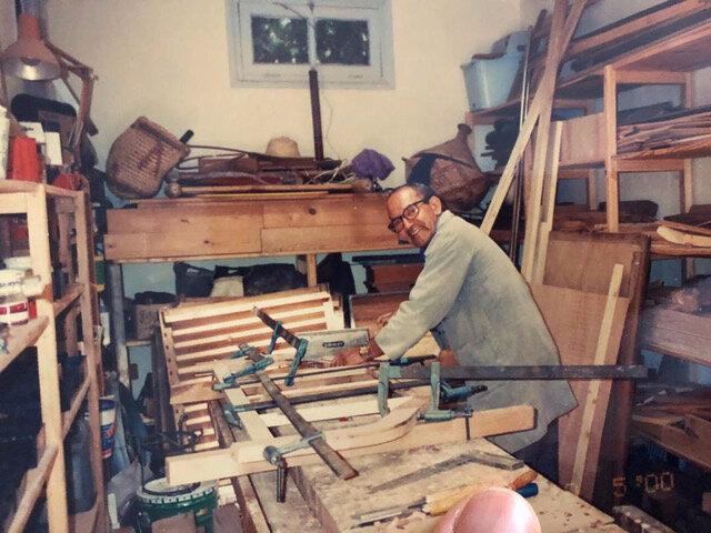 Photo 11 Roudani dans son atelier de Marrakech